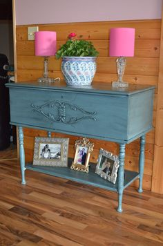 Great repurposed old cedar chest, click on the picture to check out the before, amazing!