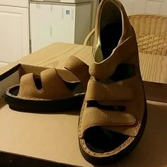 Propet sandals Great condition, very comfortable, cute especially with jeans, all velcro straps. Propet Shoes Sandals