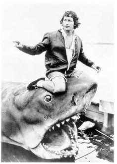 Spielberg & Bruce the shark.