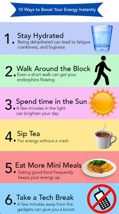 6 ways to boost your energy.