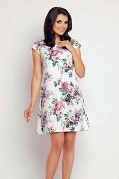 Rochii de vara de zi midi rochie eleganta midi in clos cu imprimeuri florale Casual Chic Outfits, High Neck Dress, Floral, Dresses, Fashion, Turtleneck Dress, Vestidos, Moda, Fashion Styles