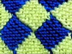 Como Tejer ENTRELAC Diamantes-How to Knit Entrelac-2 agujas(248) - YouTube