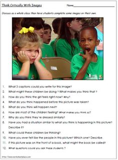 Critical Thinking 6 Worksheets