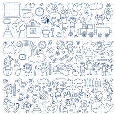 Векторный набор детский сад изображения Сток Вектор Стоковая фотография