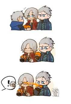 Devil May Cry Classic Nero Dmc, Vergil Dmc, Dante Devil May Cry, Dmc 5, Geek Games, Girls Anime, Pokemon Cosplay, Cartoon Memes, Geek Humor