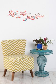 UrbanOutfitters.com > Live In The Sunshine Wall Decal