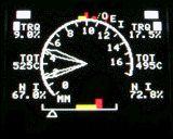 Drehzahlmesser einer EC135 bzw. EC145.
