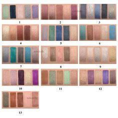Natasha Denona 5 palettes swatches
