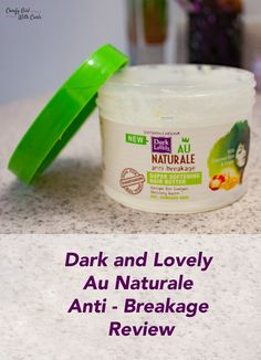 Dark and Lovely Au Natural Anti-Breakage Hair Butter | Natural Hair Care | LOC LCO Method | Type 4 Hair | Product Junkies
