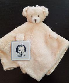 Gerber Unisex Security Blanket Lovey Teddy Bear Cream Beige  #Gerber