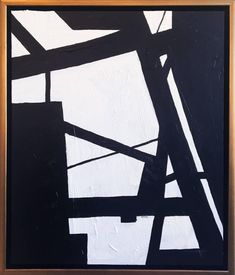Black and White Abstract 1   From a unique collection of abstract paintings at https://www.1stdibs.com/art/paintings/abstract-paintings/