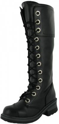 Nana Pole Climber Womens Combat Boots Vegan Knee High | Top Clothing And Shoes From Affliction, Betsey Johnson, Lacoste, Bearpaw, True Religion, Ed Hardy and more