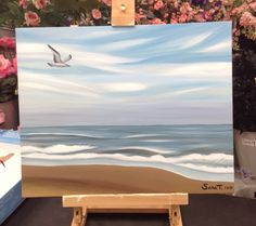 Painting I did at Michael's today to promote my art classes. From a photo I took at Virginia beach.