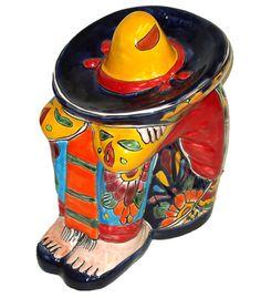 Interior-Multicolored Talavera Siesta Man : Item #101757
