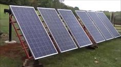DIY - Solar Panels Meet Cattle Panels  On-A-Dime Racking system