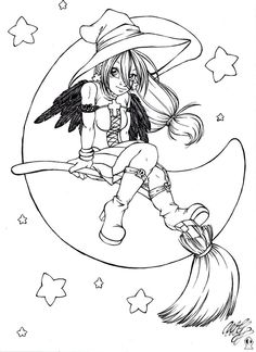 """iColor """"Halloween"""" Moon Witch"""
