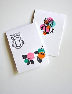 Happiest Birthday Cards by Maile Belles for Papertrey Ink (August 2015)