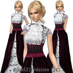 Sims Dentelle: Vintage dress-TS4 - Par Sims Dentelle