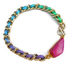 Toccajewelry Kaleidoscope Druzy Bracelet with 14K GP Bracelet. $50.00, via Etsy.