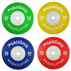 New 140 KG Vaughn Competition Olympic Bumper Plates Weight Plates For Fitness #OneFitWonder