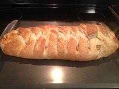 Easiest Meal Ever - Baked Spaghetti inside Homemade Bread!