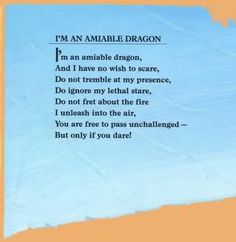Jack Prelutsky Fire Dragon, Dragon Art, Dragon Poems, Here Be Dragons, Dragon Birthday, Short Poems, Ignore Me, Magical Creatures, Best Quotes
