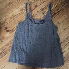 Lace Flowered Tank Top Lace flowered with a zipper on the back American Eagle Outfitters Tops Tank Tops