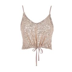 Don't Be Glitter Sequins Strap Top Peach Sequin Top, Camisole Top, Cute Outfits, Peach, Sequins, Glitter, Tank Tops, Beautiful, Color