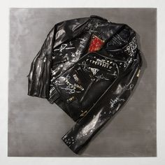 Designer Kerby Jean-Raymond and L.A. graffiti artist Gregory Siff collaborate on a biker jacket hand-painted with poems of racial injustice | ssense.com