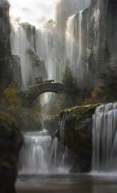 Waterfall by JordiGart.deviantart.com on @DeviantArt