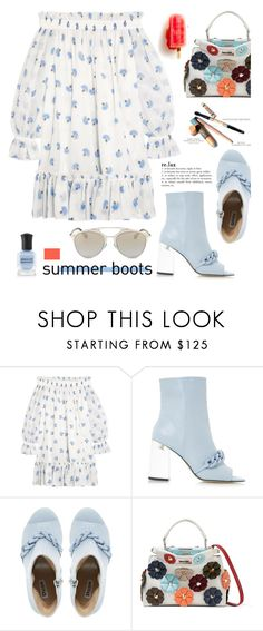 """""""Walk This Way: Summer Booties"""" by hamaly ❤ liked on Polyvore featuring Fendi, outfit, Boots, ootd and summerbooties"""