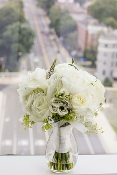 Wedding Book, Wedding Couples, Bridesmaid Bouquet, Wedding Bouquets, Downtown Boston, State Room, All White, Real Weddings