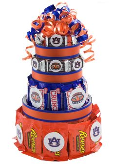 Auburn Tigers Candy Cake - Candy Cakes hell yeah!!!! The perfect gift for my daddy.