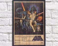 Art de l'affiche des films Star Wars en bois. par Woodprintz