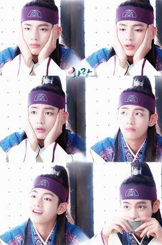 Taehyung in Hwarang Jung So Min, Billboard Music Awards, Foto Bts, V Hwarang, Hwarang Taehyung, Bts Kim, V Bts Hwarang, V Bts Cute, W Two Worlds