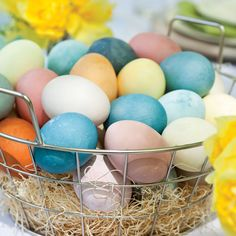 All-Natural Egg Dying - this would be fun to try for Easter!