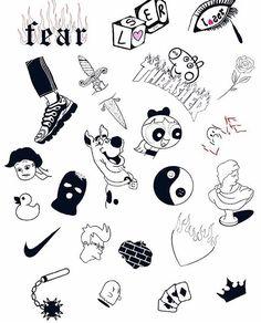 Grunge Tattoo, Kritzelei Tattoo, Doodle Tattoo, Tattoo Design Drawings, Small Tattoo Designs, Tattoo Sketches, Dope Tattoos, Mini Tattoos, Small Tattoos