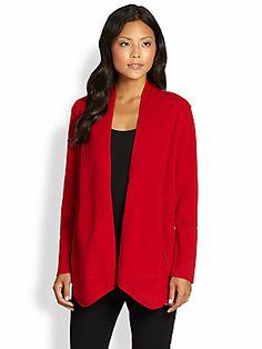 Eileen Fisher Felted Wool Sweater Jacket
