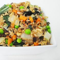 Our bok choy fried rice is packed with flavor and sneaks in some extra greens.  In this recipe, we combine it with brown rice, spices and ginger to create a protein-packed fried rice dish.  Try this dish with any of our other vegetable or meat recipes.  Omit the eggs and chicken breast to make this a vegan-friendly recipe.  This recipe works well for meal prep.