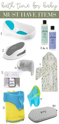 bath time must haves for baby