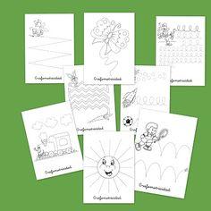 Recursos para el aula: Fichas de grafomotricidad en infantil #grafomotricidad