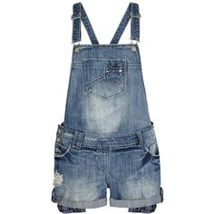 Blue Denim Wash Short Dungarees ($30) ❤ liked on Polyvore featuring jumpsuits, rompers, shorts, dresses, dungarees, jumpsuit, bottoms, sexy rompers, denim jumpsuit and blue jump suit