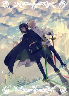149 Seraph of the End - Vampire Reign Japanese Anime Poster Otaku Anime, Manga Anime, All Anime, Me Me Me Anime, Manga Art, Anime Guys, Anime Art, Ai No Kusabi, Shingeki No Bahamut
