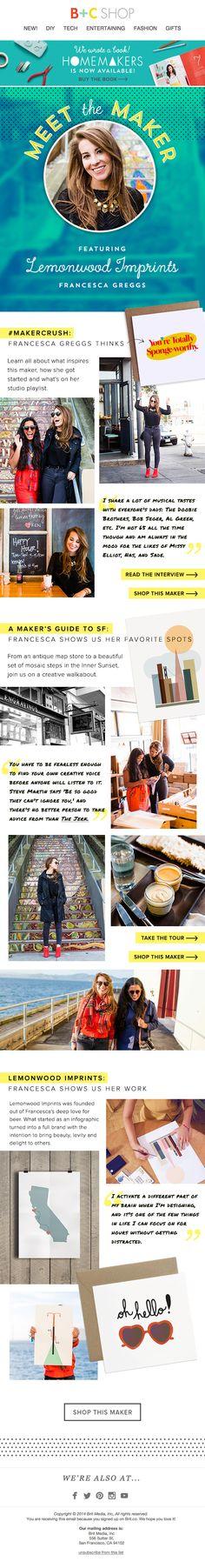 One of my fave Makers on B+C, Designer Francesca Greggs, founder of Lemonwood Imprints. We're obsesssssed!