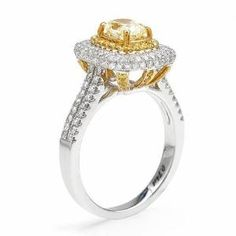 Diamond ring in 18K two tone gold