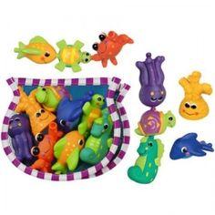 Snap Squirt Sea Animal Bath Water Toys w/ Storage Fishbowl Happy Baby Bathtime #Sassy