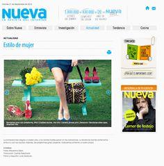 Cartera DELACUCA en Revista Nueva Shopping, Pageants, Printing Press, Interview, Journals, Trends