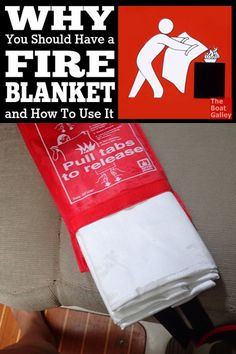 For many cooking fires, a fire blanket will do a better job of extinguishing it without all the mess to clean up. Take a look . . .  via @TheBoatGalley