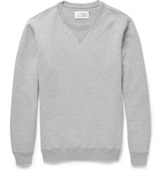 Maison Martin Margiela– Elbow Patch Loopback Cotton Jersey Sweatshirt