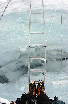 Looking into crevasse on Mount Everest | MountainWorld Photography ...